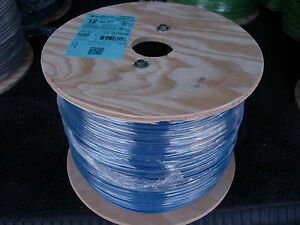 2500 Ft Spool Of 12 Stranded Thhn Copper Wire New blue