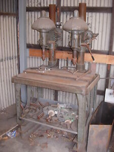 Vintage Buffalo Dual Head Drill Press