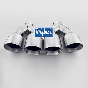 Quad Exhaust Tips For Mustang Gt 5 0 V8 2015 2 5 In 4 Out Dual Wall