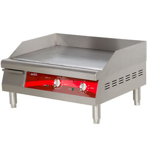 24 Stainless Steel Electric Restaurant Countertop Flat Top Griddle 208 240 Volt