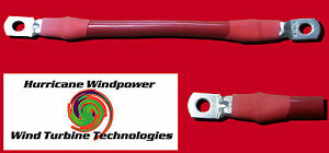 Battery Interconnect Cable Red 12 Inch 2 0 Awg For Solar Panel Wind Generator