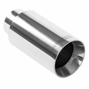 Magnaflow 35125 Exhaust Tip 2 25in Inlet 4 5 Long 3 5 Outlet Stainless Steel