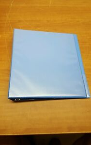 Lot Of 8 Universal Deluxe Round Ring View Binder 1 Capacity Lt Blue 20713