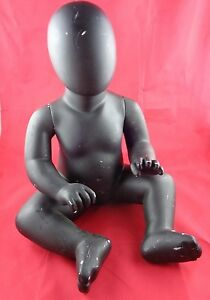Baby Doll Mannequin Sitting Black Used