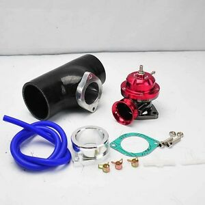 Red Turbo Type Rs Bov Blow Off Valve 2 5 Black Silicone Coupler Adapter