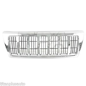 New Front Grille For Jeep Grand Cherokee Black Ch1200298 Xb92tstac
