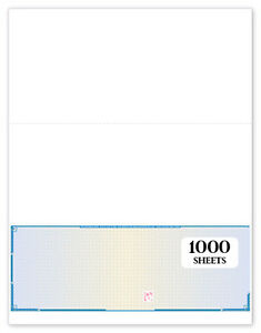 Blank Check Paper 1000 Sheets Blue Prismatic Business Checks Refill Form 1002