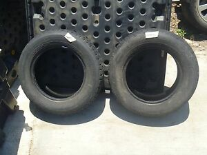 2 Qty Pacemark Snowtrakker St 2 Tires 185 70r14 Studded Snow Tires