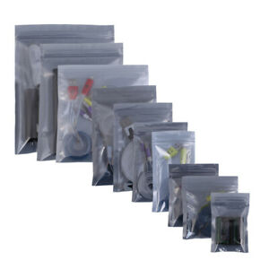Multi sizes 500pcs Flat Anti static Repackaging Translucent Zip Lock Bags A572