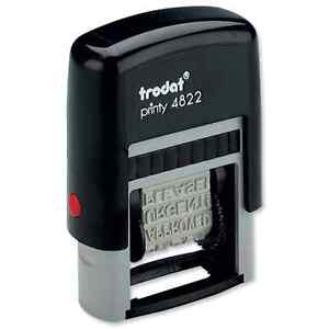 Trodat Printy 4822 Self inking 12 Message Stamp Blue Ink