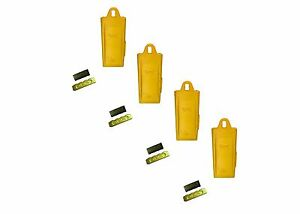 4 Esco Style 18 Series Mini Excavator Backhoe Bucket Dirt Tooth W Pin Kit