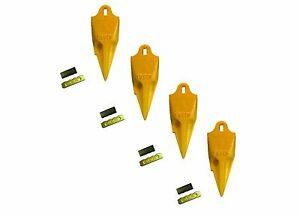 4 Esco Style 18 Series Mini Excavator Backhoe Bucket Rock Teeth W Pin Kits