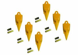 6 Esco Style 18 Series Mini Excavator Backhoe Bucket Rock Teeth W Pin Kits