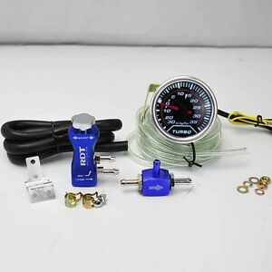Boost Controller Adjustable 30psi Blue 2 Digital Led 30 35psi Boost Gauge
