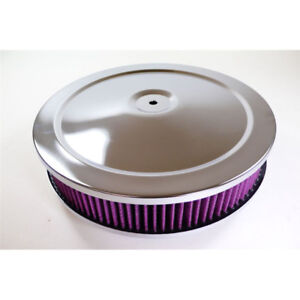 Rpc Air Cleaner Assembly R2282x Muscle Car Chrome Steel Round 10 000 2 000