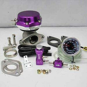 Purple Wastegate 8 6 Psi boost Controller 30psi 2 Digital 35psi Boost Gauge