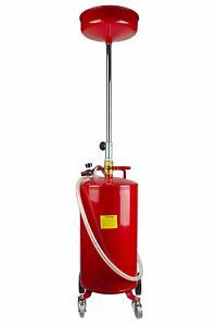 Neiko 20 Gallon Portable Waste Oil Drain Drum Air Operated Professional Quality
