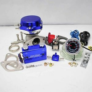 Blue Wastegate 8 6lb Spring duo Switch Boost Controller 2 Led Boost Gauge