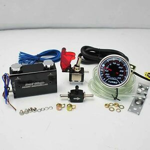 Black Duo Setting Rocket Switch Turbo Boost Controller 2 Led 35psi Boost Gauge