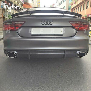 Pair 2 5 In Audi Rs Look Oval Out Stainless Steel Exhaust Tip For A7 A6 A5 Tt