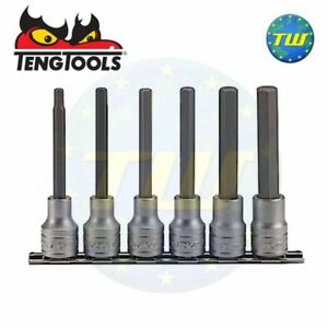 Teng 6pc 1 2 Long Allen Hex Bit Socket Clip Rail Set 5 6 7 8 10