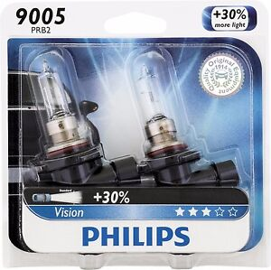 Philips 9005 Vision Upgrade 30 More Bright Headlight Light Bulb Pack Of 2