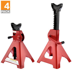 3 Ton Jack Stands 4 X Ratcheting Pair Heavy Duty Lift Lock Capacity Car Truck