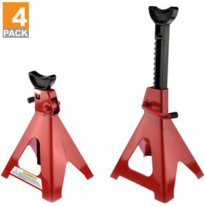 6 Ton Jack Stands 4 X Ratcheting Pair Heavy Duty Lift Lock Capacity Car Truck