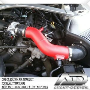 11 14 Fits Ford Mustang V6 St Base 3 7l 3 7 Af Dynamic Cold Air Intake Red Kit