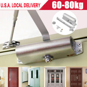 Durable Aluminum Commercial Door Closer Two Independent Valves Control 60 80kg