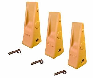 3 Cat Style Backhoe Loader Bucket Dirt Teeth W Pins Retainers 1u3252