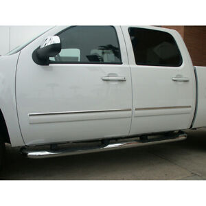 1 Chrome Door Trim For 2007 2008 Chevy Silverado Ext Cab
