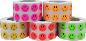 Small 1 2 Half Inch Round Smiley Face Happy Stickers Bulk Pack 5 000 Total La