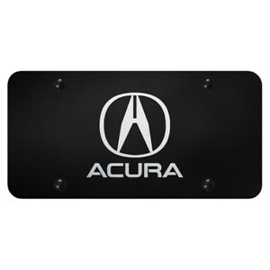 Acura Laser Etched On Black License Plate Officially Licensed