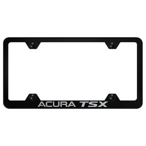 Acura Tsx On Black Wide Body License Plate Frame Officially Licensed