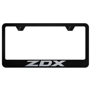 Acura Zdx Laser Etched On Black License Plate Frame Officially Licensed