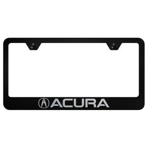 Acura Laser Etched On Black License Plate Frame Officially Licensed