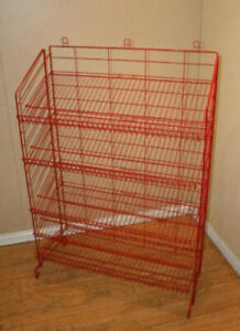 New Retail Five Shelves Adjustable Display Rack 54 h X37 w X16 d In Red