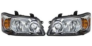 2004 2005 2006 Toyota Highlander Headlights Pair Left And Right Set