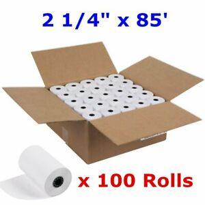 100 Rolls Case 2 1 4 X 85 Cash Register Credit Card Pos Receipt Thermal Paper