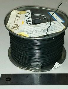 300 Ft Spool Mw c24 1 j0 24awg Black Cable Wire Solid Single Cond 1000v