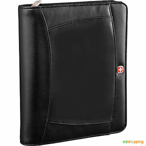 Black Zippered Executive Wenger Business Office Organize Tablet Notebook Bundle