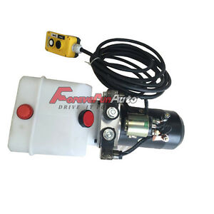 New Hydraulic Power Unit Double Acting 12v Dump Trailer 3 Quart With Remote