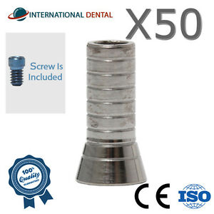 50 Titanium Sleeve For Angulated Multi Unit Dental Implant Abutment For Dentist
