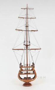 Uss Constitution Cross Section Tall Ship 31 Built Wooden Model Boat Assembled