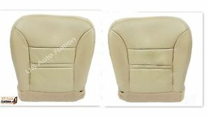 2000 2001 Ford Excursion Driver Passenger Side Bottom Leather Seat Cover Tan