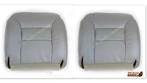 1995 To1999 Chevy Suburban Tahoe Driver Passenger Bottom Leather Seat Cover Gray