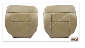 2005 2006 2007 2008 Ford F150 Driver Passenger Bottom Leather Seat Cover Tan
