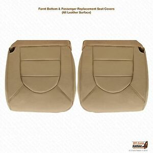 1999 Ford F250 F350 Driver Passenger Side Bottom Leather Seat Cover Tan