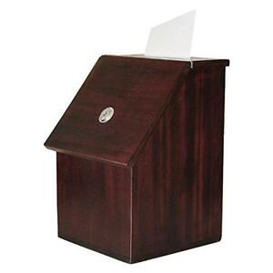 My Charity Boxes Wood Suggestion Box Donation Box Ballot Box Locking Wit